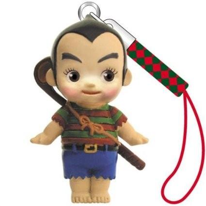 日版kewpie Q 比高爾夫球員猴子超 動漫手機繩吊飾硬膠娃娃吊飾3 公分高