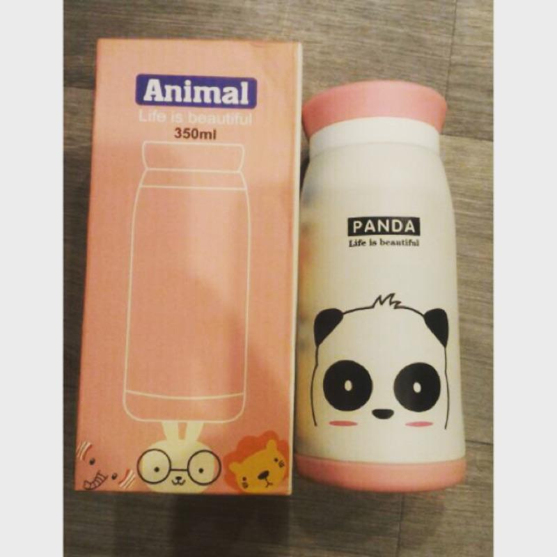 超可愛動物保溫瓶熊貓、兔子、獅子款350ML 不鏽鋼