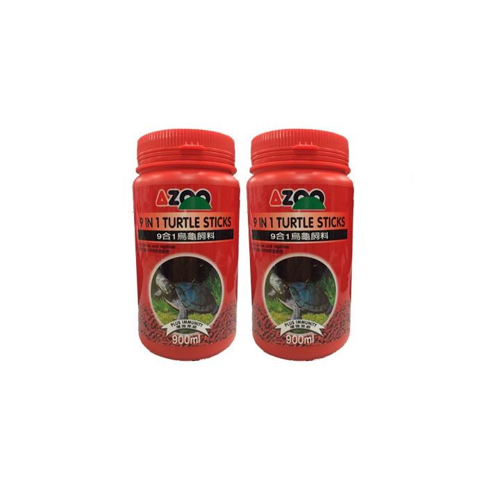 AZOO 愛族9 合1 烏龜飼料大烏龜小烏龜900ML