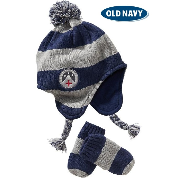 Oldnavy 毛帽手套組,帥氣保暖 M 、L 各1 組