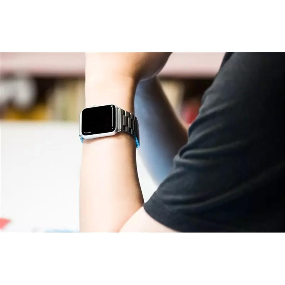 【米米♥潮品】蘋果手表表帶金屬不銹鋼表帶三銖實心錶帶錶環含連接器錶帶扣