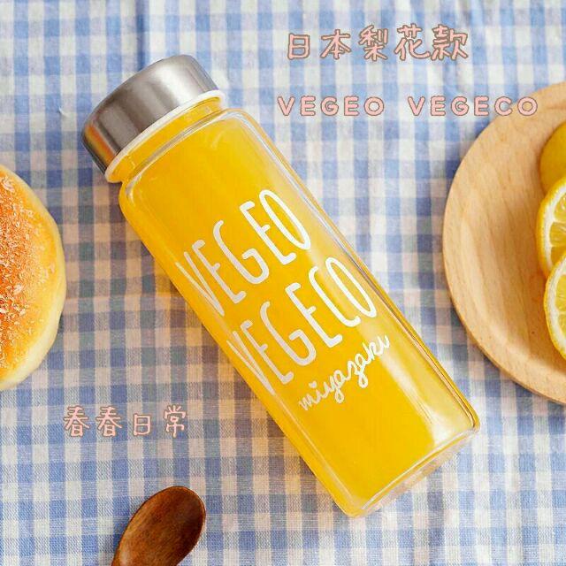 春春日常 梨花款超 VEGEO VEGECO 玻璃水杯水瓶水壺隨身方便攜帶簡約風格