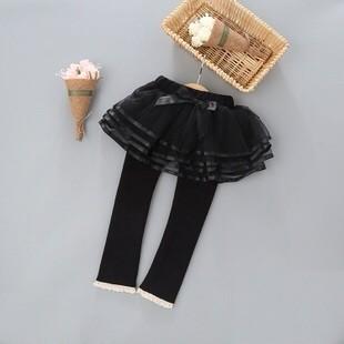 韓國童装2016 秋 童童裙褲女童加绒蓬蓬裙纱裙打底褲裙褲