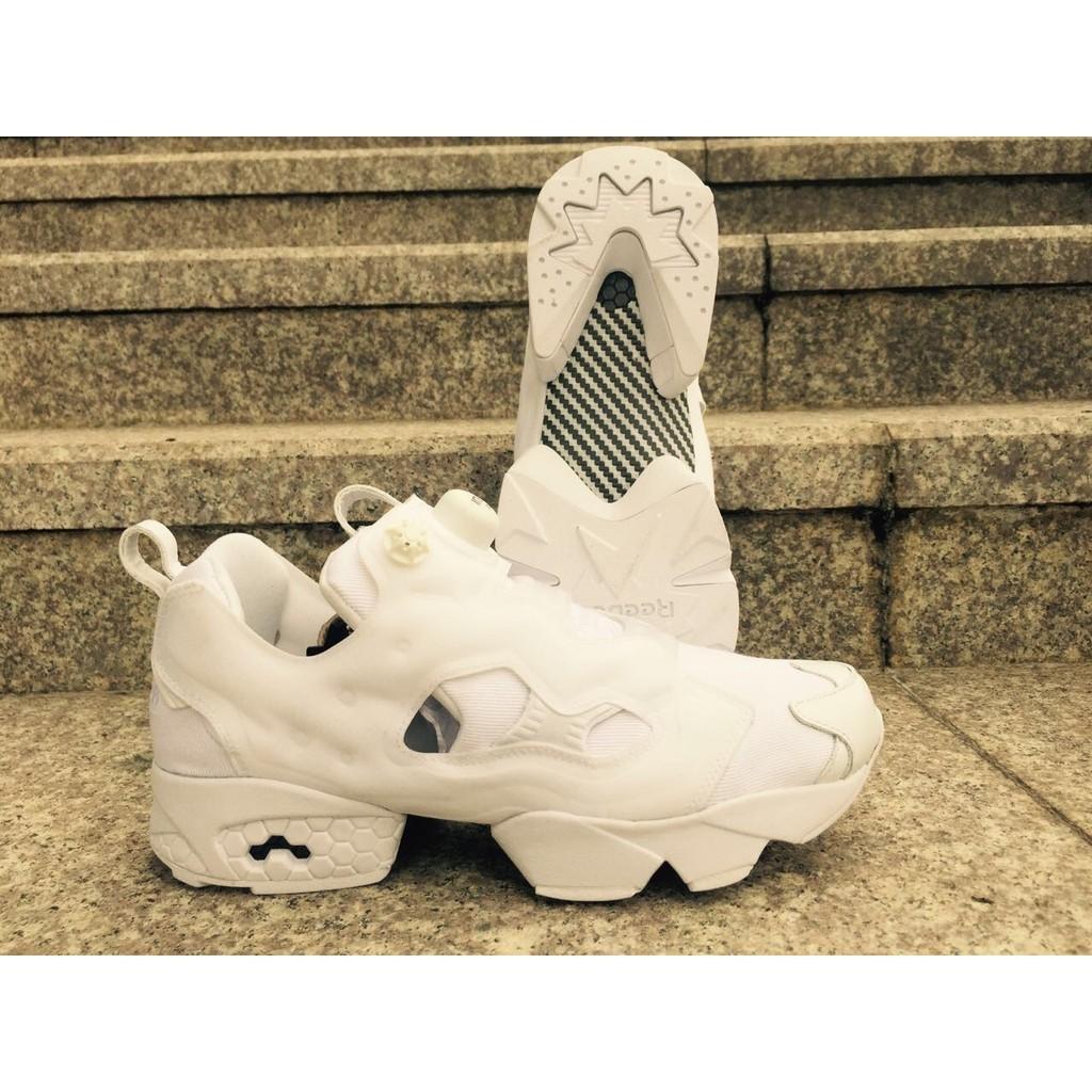 Reebok Insta Pump Fury clshx 銳步充氣放氣男女鞋 鞋跑步鞋全白