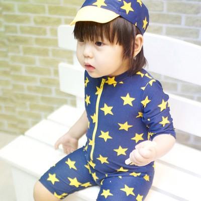 價KB 來自星星的你韓國溫泉兒童游泳衣泳衣和泳褲兩件套