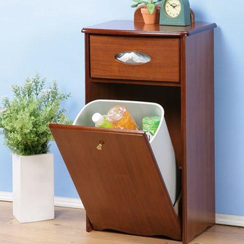 ~閱讀歐洲~木製分類垃圾整理櫃