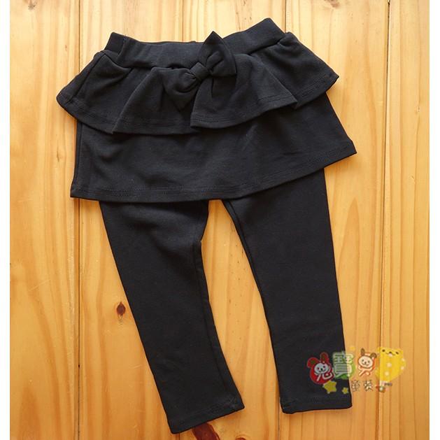 最後二件5 7 號1774 黑色裙褲蝴蝶結棉質褲裙內搭褲中小童
