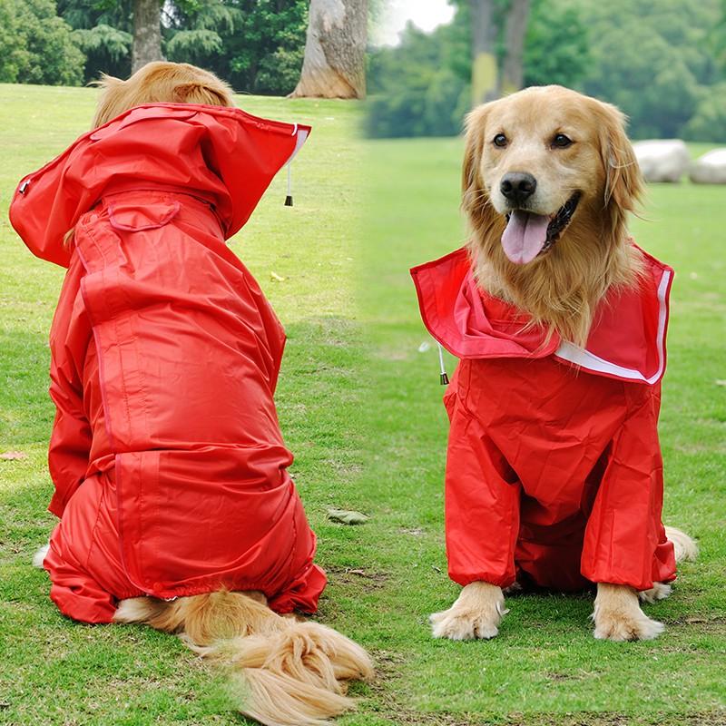 狗雨衣防水寵物大狗小狗衣服薩摩金毛泰迪 外出衣服雨披