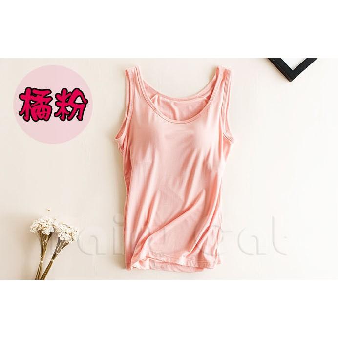 ❤背心❤橘粉、酒紅 區❤Fairy Cat ❤ 超 莫代爾罩杯一體式帶bra 無袖T 恤無