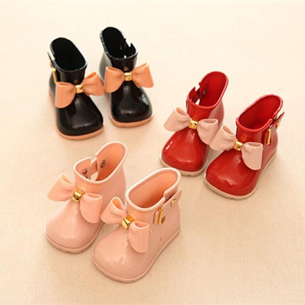 巴西 梅麗莎兒童短筒雨靴中大童橡膠雨鞋