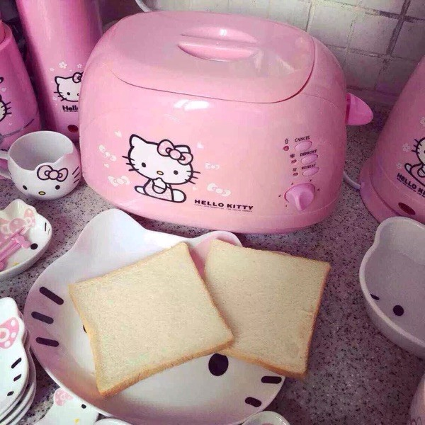 hello kitty 凱蒂貓不銹鋼早餐機烤面包機多士爐吐司機兩圖
