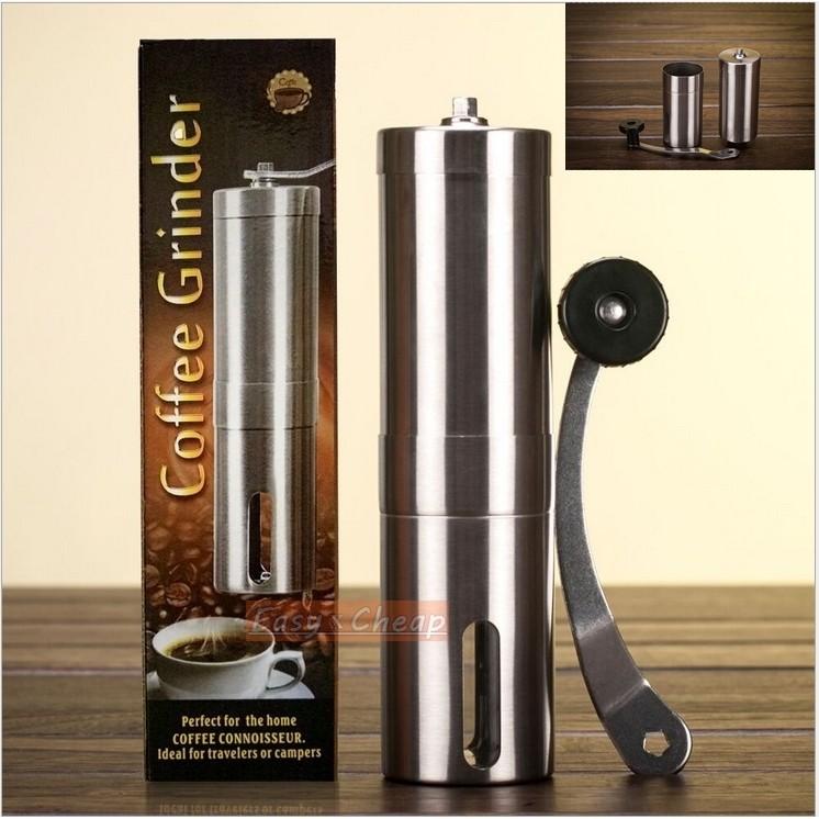 304 不鏽鋼手搖磨豆機現磨現泡手動研磨咖啡機手搖咖啡豆研磨機香料研磨器磨粉機EXC