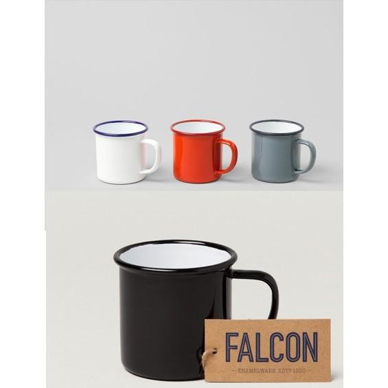 小木屋英國百年FALCON 獵鷹琺瑯馬克杯Mug350ml 藍白黑色適野餐露營,360 4