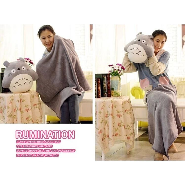 豬~ ~三合一龍貓抱枕~可加購龍貓吊飾加厚毛毯龍貓娃娃抱枕龍貓暖手包龍貓空調被午睡枕擺飾裝