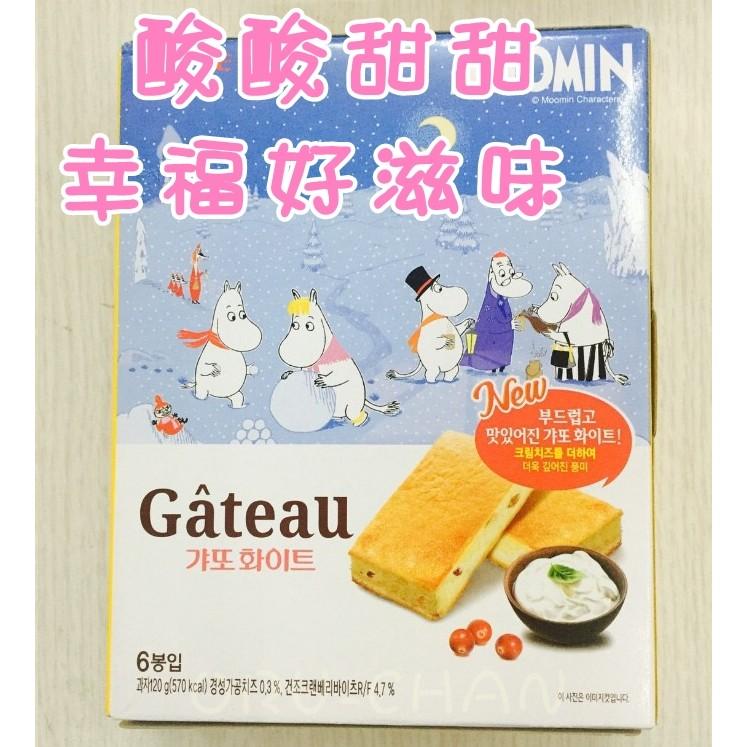 嚕嚕米超可愛酸酸甜甜~韓國 ~LOTTE 法式莓果夾心奶酪蛋糕派,6 入下午茶 ✈ ✈