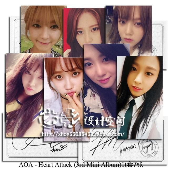 AOA 怦然心動Heart Attack 自製三輯專輯小卡一組7 張