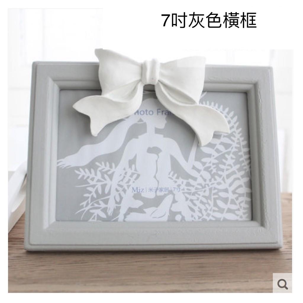 相框畫框照片架多形狀多款木質婚紗照相片架擺台 製作蝴蝶結