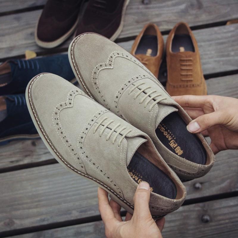 潮流指標正韓英倫布洛克男鞋雕花潮鞋牛津鞋男真皮磨砂男鞋復古巴洛克休閒鞋子