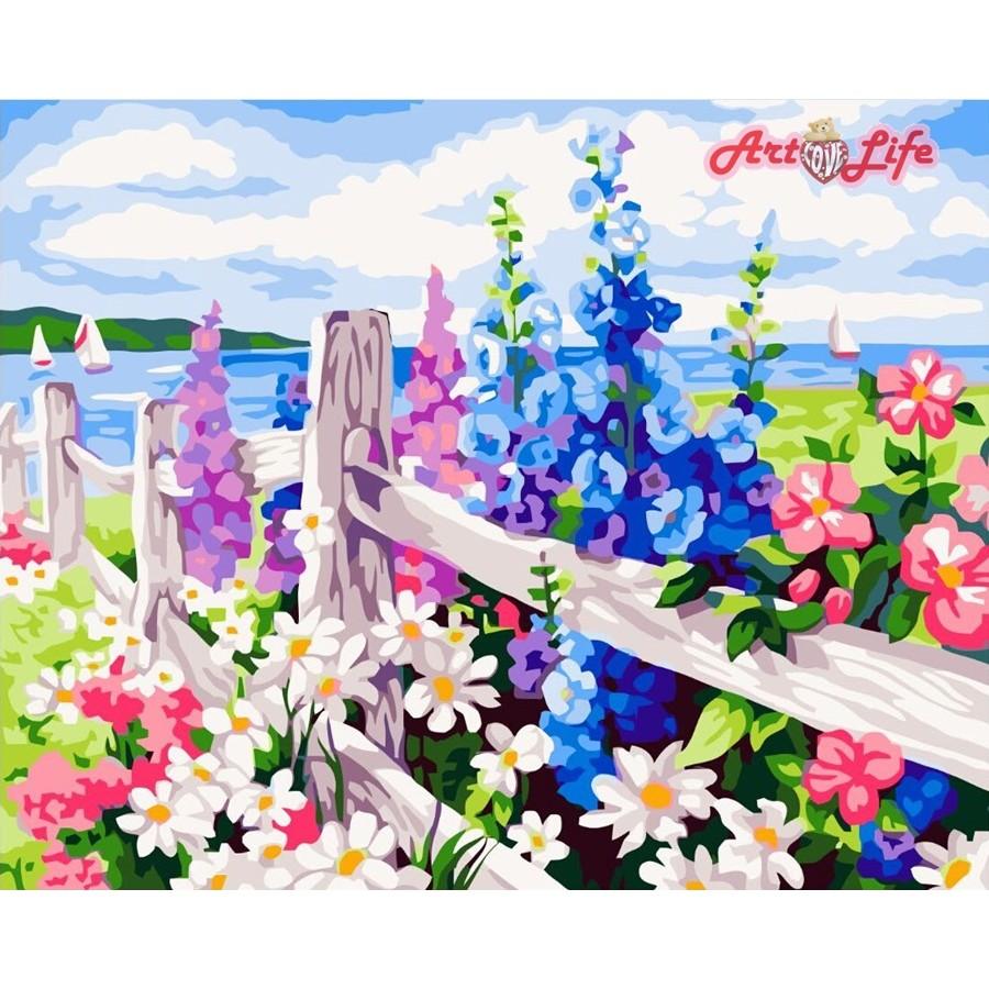 ArtLife 藝術 ~66183 ~花海_DIY 數字油畫彩繪40 50cm 在蝦皮賣場