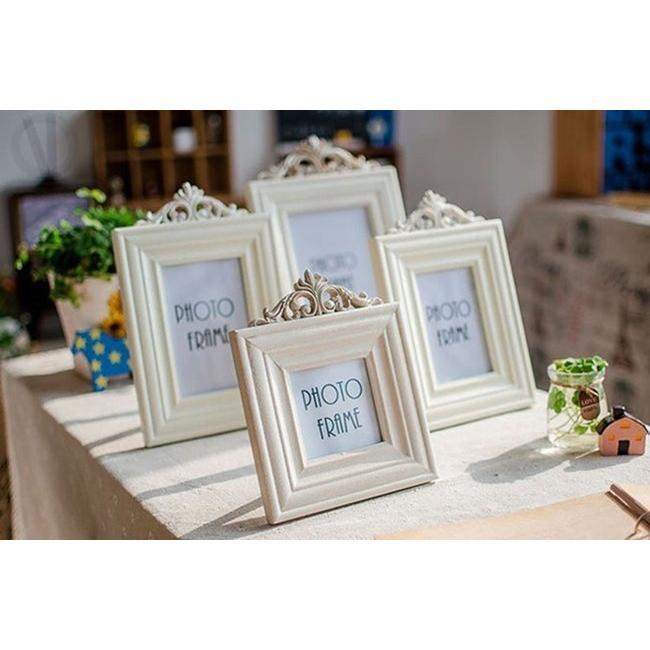 ~愛鴨雜貨舖~zakka 雜貨3 5 6 7 吋相框純白歐式複古實木相架相框桌面相框床頭相