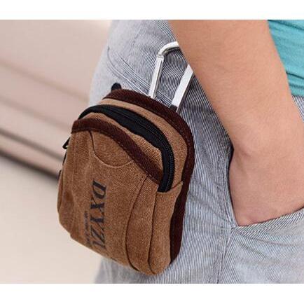 24 時內出貨帆布包手機掛包帆布包愛 潮流館K07 斜背包腰包手機袋手機包手機皮套零錢包肩