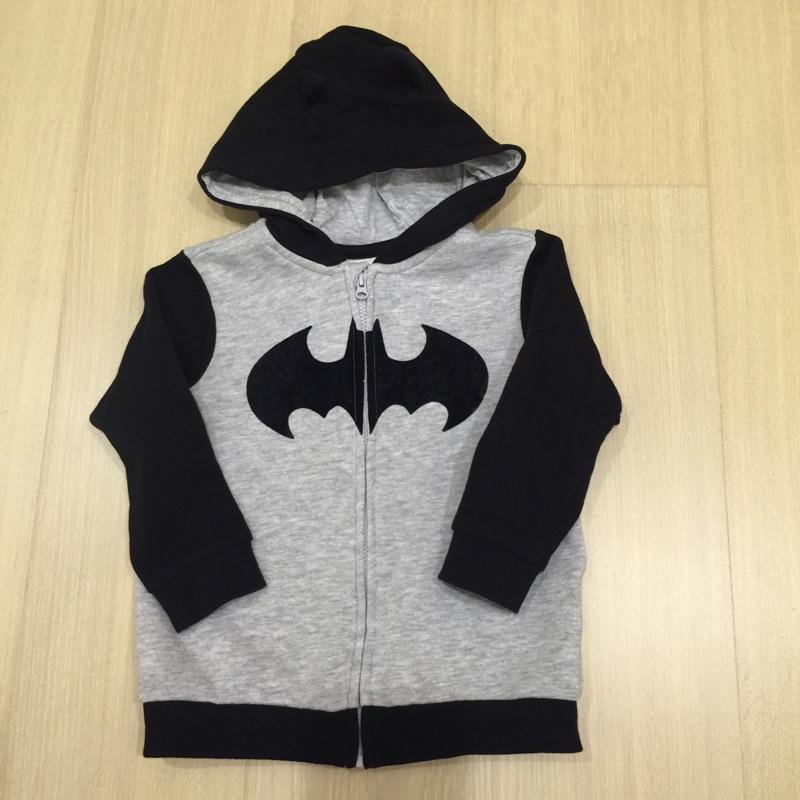 男寶寶H M 蝙蝠俠連帽拉鏈棉質外套尺寸12 18m