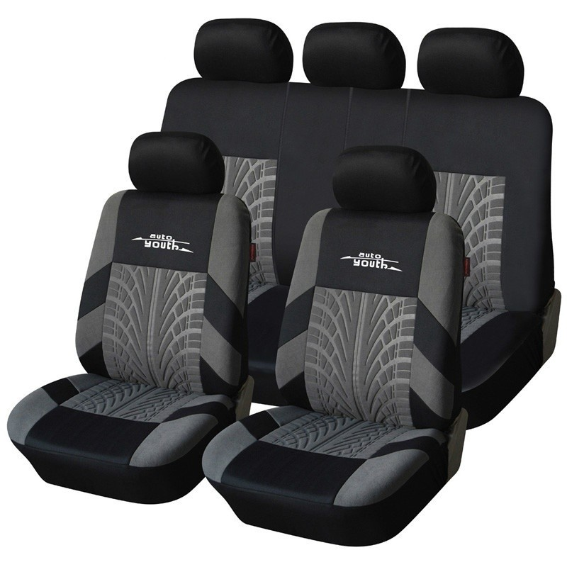AUTOYOUTH 牌繡花汽車座套設置 大多數汽車與輪胎跟踪細節 汽車座椅套保護
