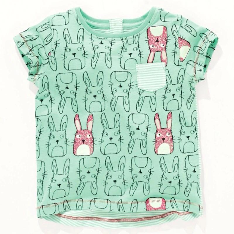 夏日新鮮貨純棉口袋滿印豆豆龍龍貓短袖T 恤上衣