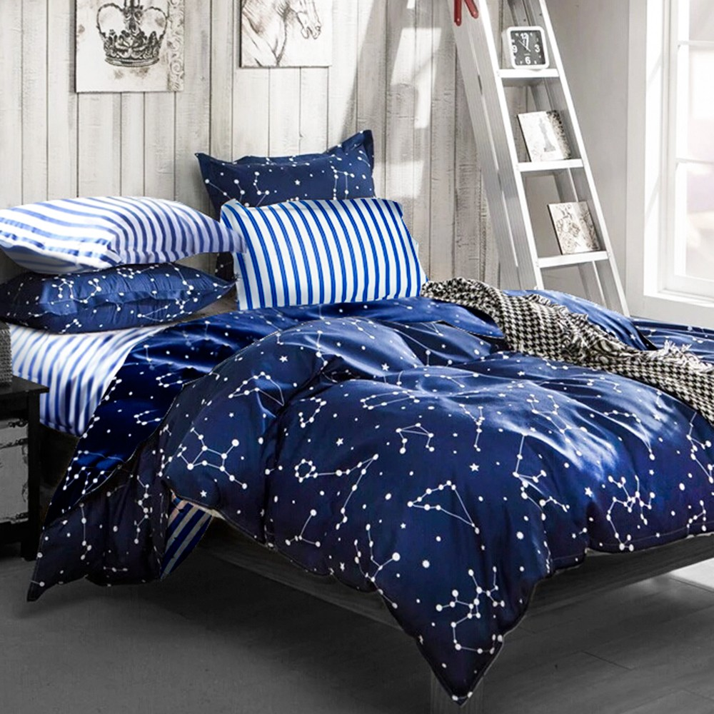❤6 折❤床包被套組雙人單人~流星雨~雪紡棉磨毛加工處理親膚柔軟,Artis 製