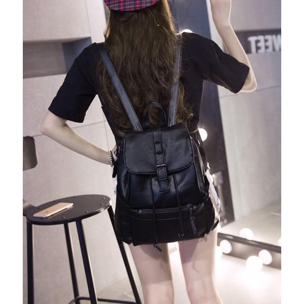 ~附發票大容量 雙肩包女水洗皮後背包潮流旅行包包