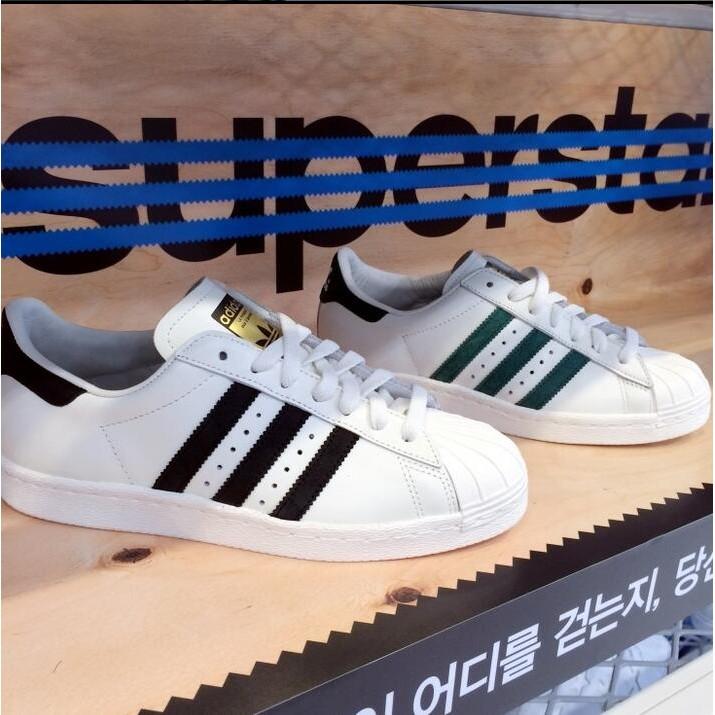 正品 Adidas Originals superstar 三葉草貝殼頭板鞋男鞋金標休閒鞋
