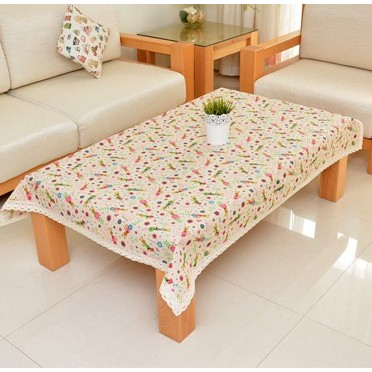 棉麻可愛小兔桌布桌巾洗衣機蓋巾防塵罩多用巾蓋布攝影好物 約10 14 天到貨