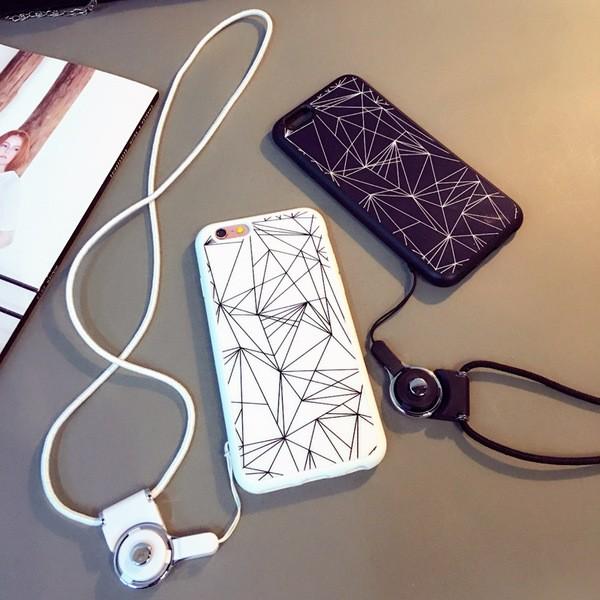 新穎潮流iphone6s plus 手機殼矽膠超薄掛繩手機殼iphone6 plus