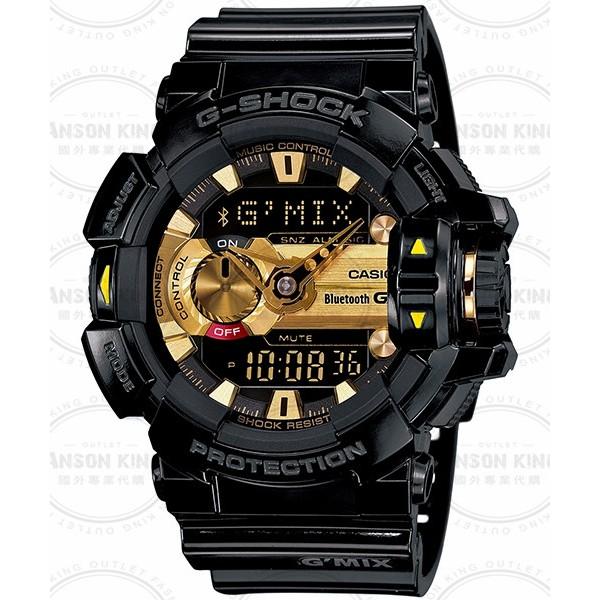 國外 CASIO G SHOCK G MIX 智慧型藍芽GBA 400 1A9 黑金手錶腕