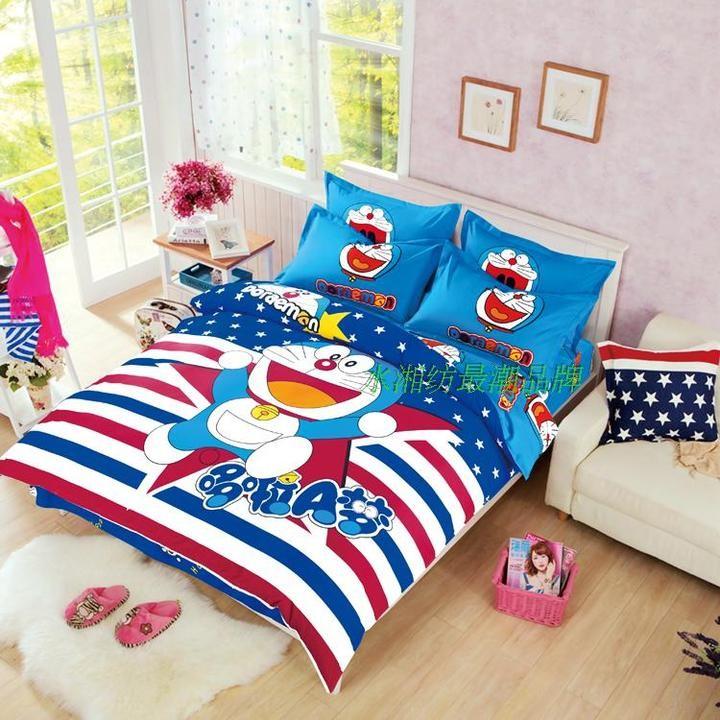 單人被套4 三件套床上用品四件套卡通1 5 1 8m 磨毛床笠兒童學生床