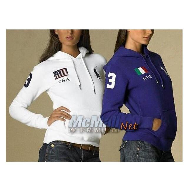 Ralph Lauren Polo 3 字大馬標國旗款套頭連帽外套衛衣休閒外套 外套棉外套