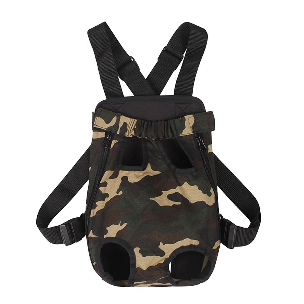 迷彩胸前寵物背包寵物外出背包帆布寵物狗攜帶包