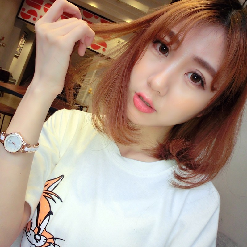 〖 衣櫃〗韓國防水 潮流女士陶瓷手鏈 簡約石英錶時裝手錶女