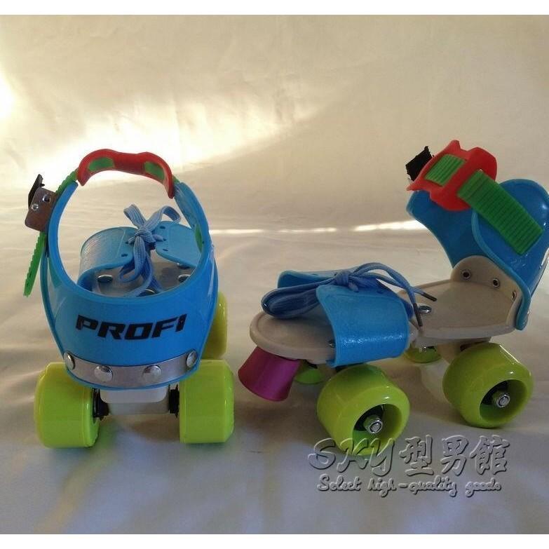 兒童溜冰鞋四輪旱冰鞋3 6 歲初學雙排輪滑鞋可調滑冰鞋igo