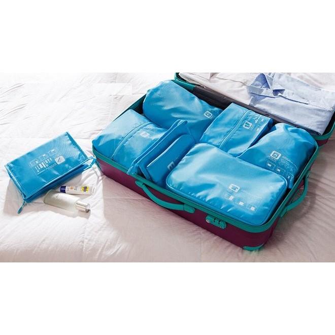 出差旅行行李箱衣物分類收納袋旅行收納衣物收納內衣鞋子收納袋七件組AA008