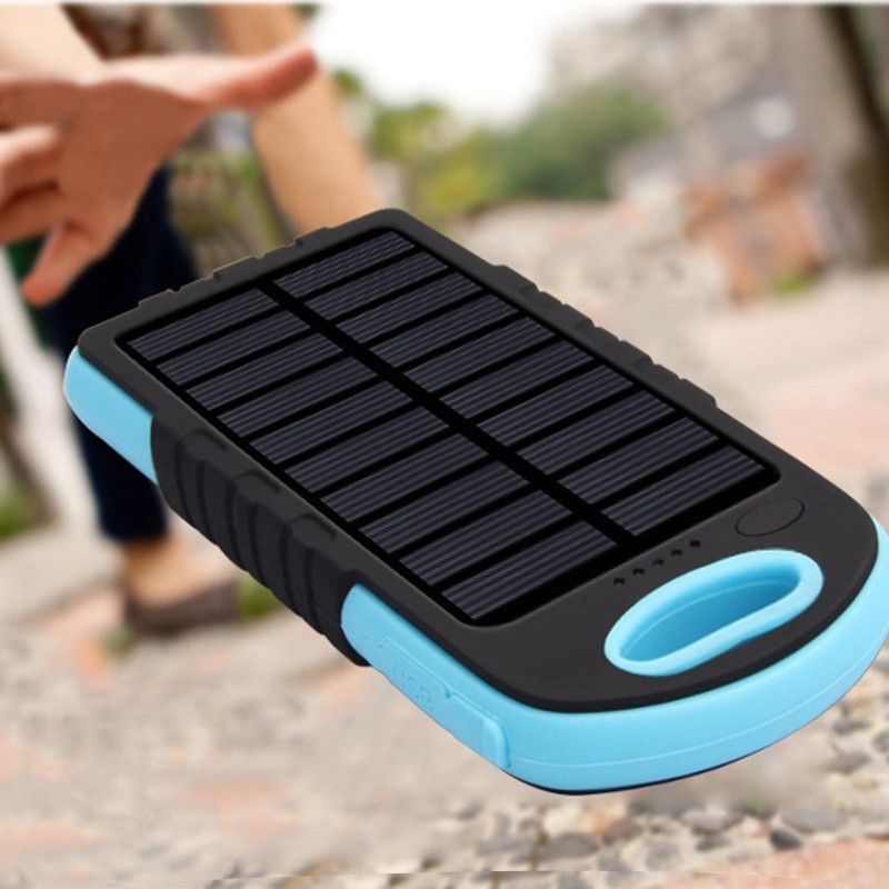 ~ ~行動電源C 記超薄太陽能充電寶50000m 毫安迷你小巧智能手機移動電源聚合物