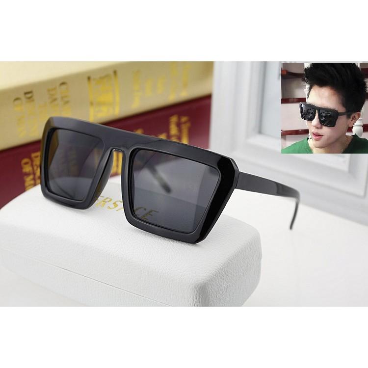 ~墨鏡5 ~2016 型男太陽眼鏡大框眼鏡方形墨鏡明星墨鏡黑色方框眼鏡含外出鏡盒
