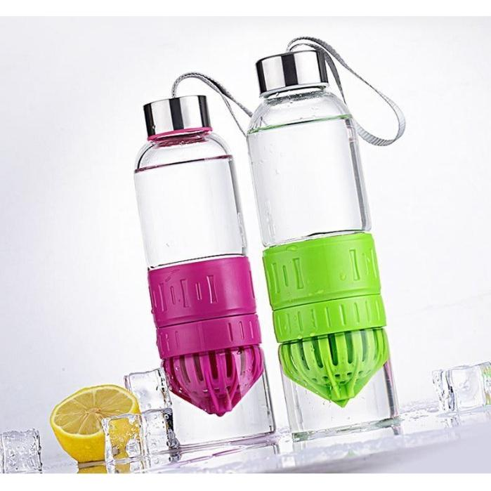 果鮮魔力瓶 兒童檸檬玻璃榨汁杯榨水果橘子檸檬西瓜柳丁果汁瓶愛購小舖5