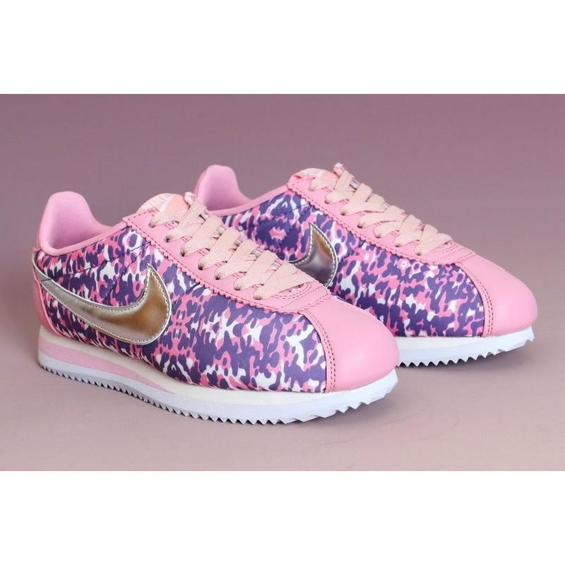 正品Nike Classic Cortez Nylon PRM 阿甘鞋彩噴休閒鞋慢跑鞋女鞋