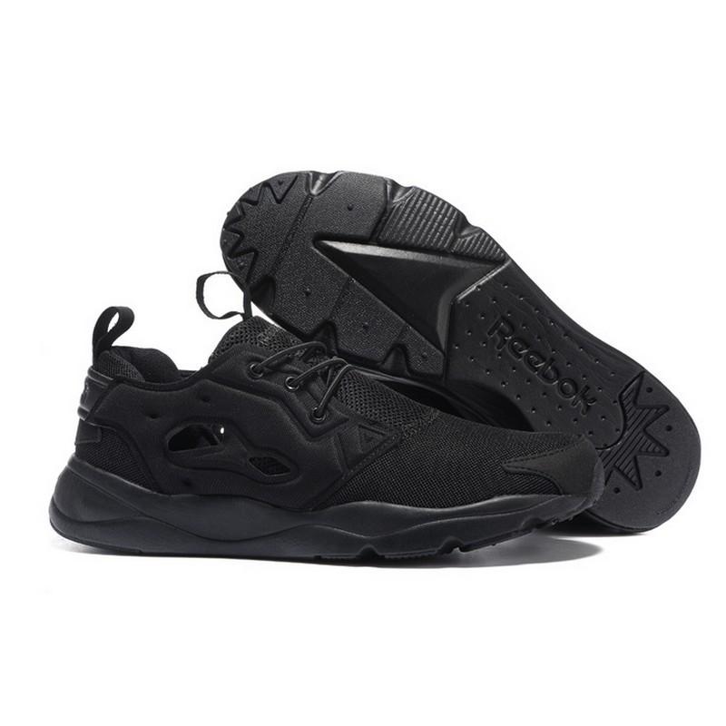 直送REEBOK 銳步FURYLITE 複興系列複古跑鞋休閒鞋 鞋全黑36 44