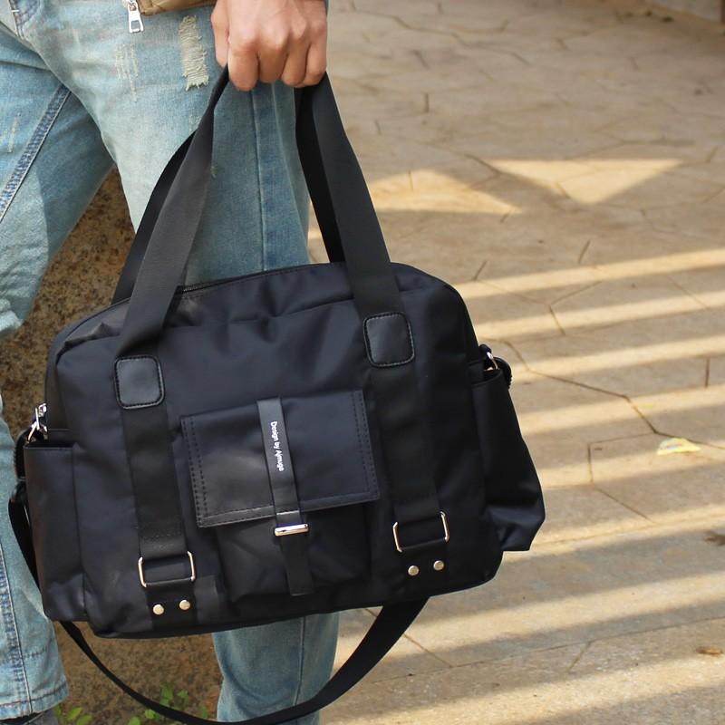 尼龍潮流日 男包 男士旅行包學生單肩斜挎包包手提大包