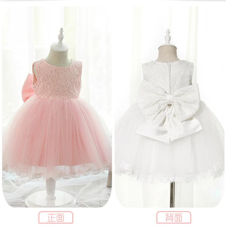 女童春裝連衣裙寶寶婚紗禮服公主裙兒童夏裝嬰兒 裙子包屁衣花童
