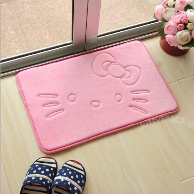 ]Hello Kitty 珊瑚絨地墊地毯門墊防滑吸水衛浴