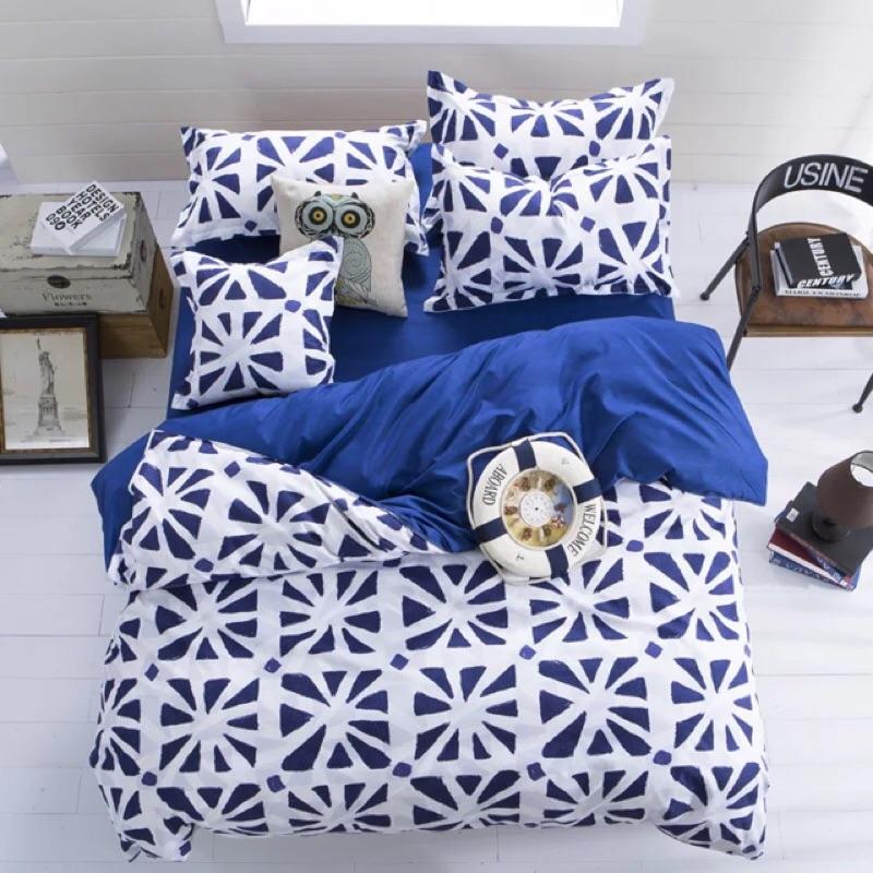 北歐米蘭床包四件組床單被套枕套組單人雙人床雙人加大ikea zera muji 無印良品專