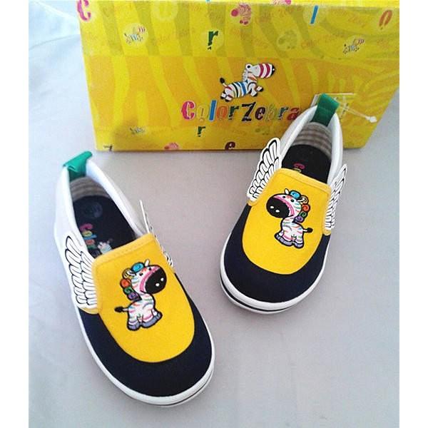 滿月舖童鞋彩色斑馬威威Color Zebra 男童 鬆緊帶直套式帆布鞋休閒鞋室內鞋 MIT